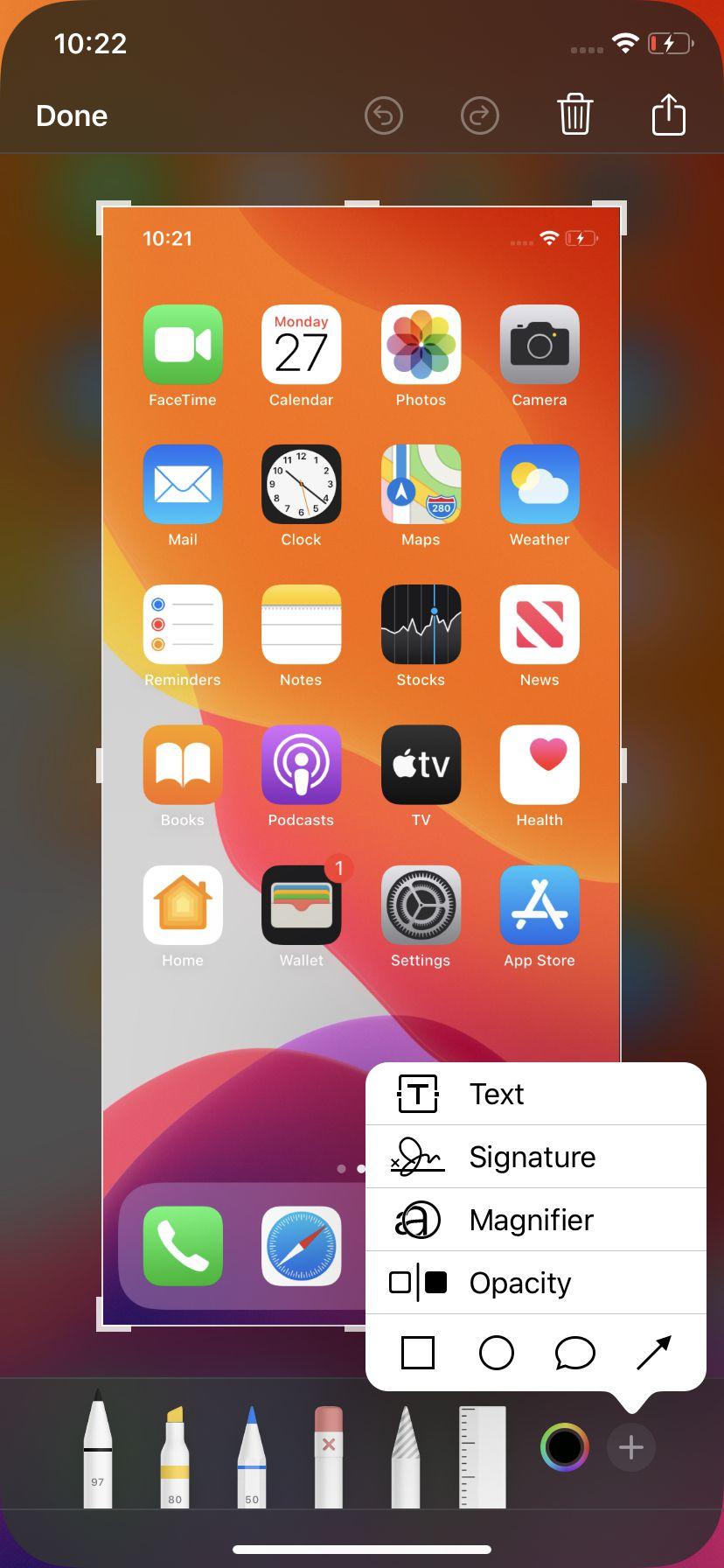 Après avoir pris une capture d'écran sur votre iPhone, vous pouvez la modifier.