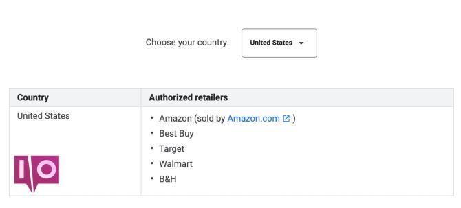 le prix Google Store correspond aux États-Unis