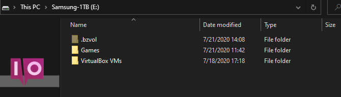 Organisation de Windows Second Drive