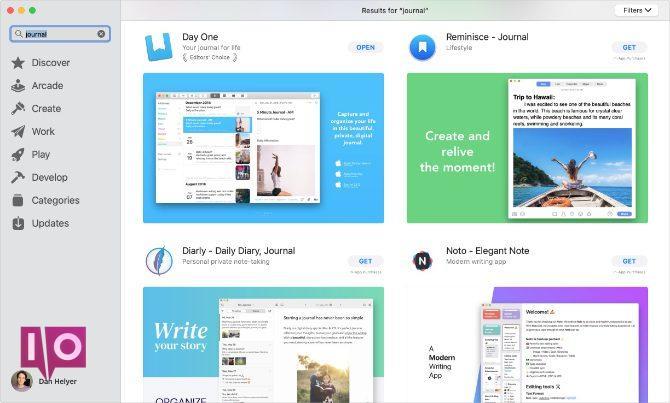 Applications de journalisation numérique sur le Mac App Store