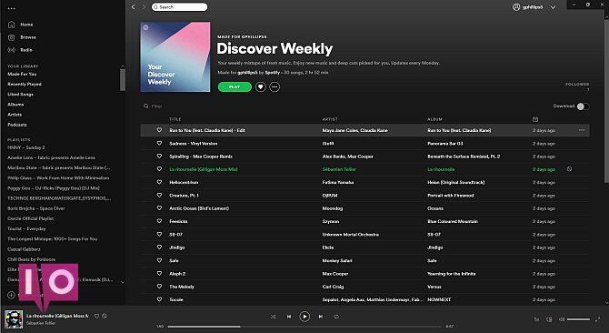 thème de base Spotify
