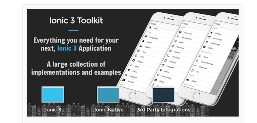 Boîte à outils Ionic 3