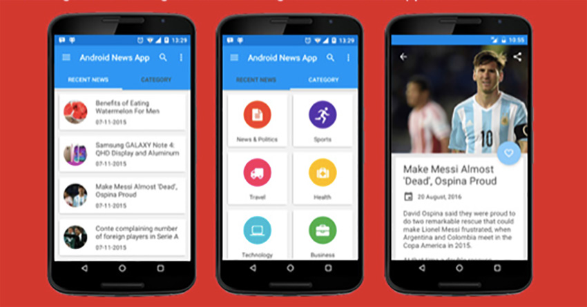 Application d'actualités Android