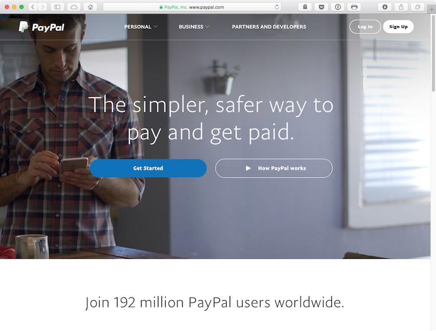Allez sur paypalcom et connectez-vous à votre compte