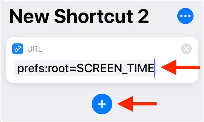 Collez l'URL, puis appuyez sur le bouton Plus