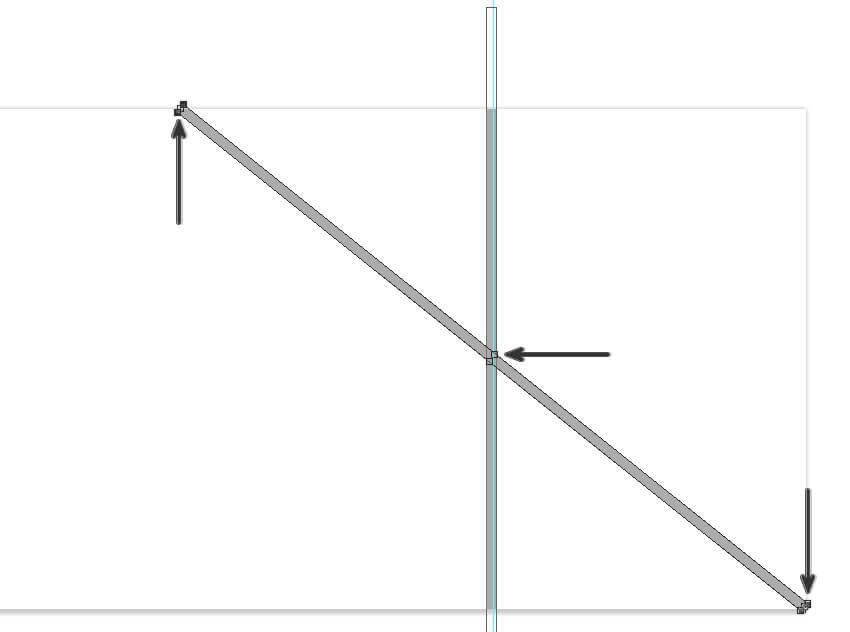 copier et faire pivoter la forme du rectangle