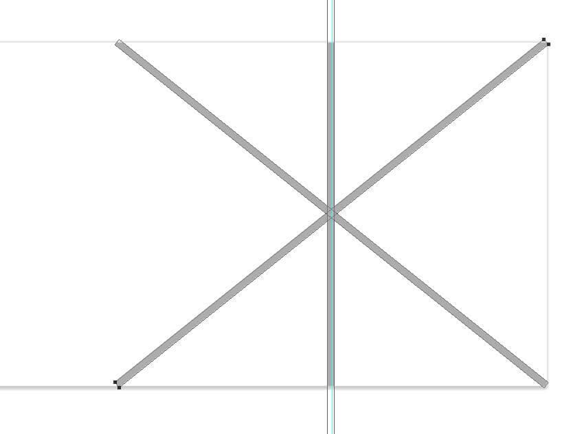 créer l'autre ligne de bordure diagonale