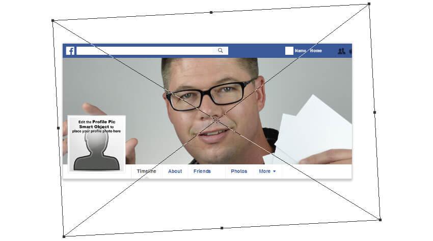 Transformez l'image pour l'adapter à la position de la zone de profil