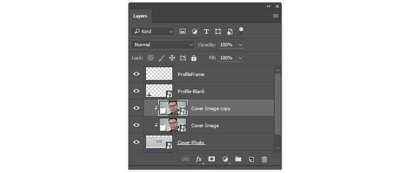 Créer une copie du calque de photo de couverture