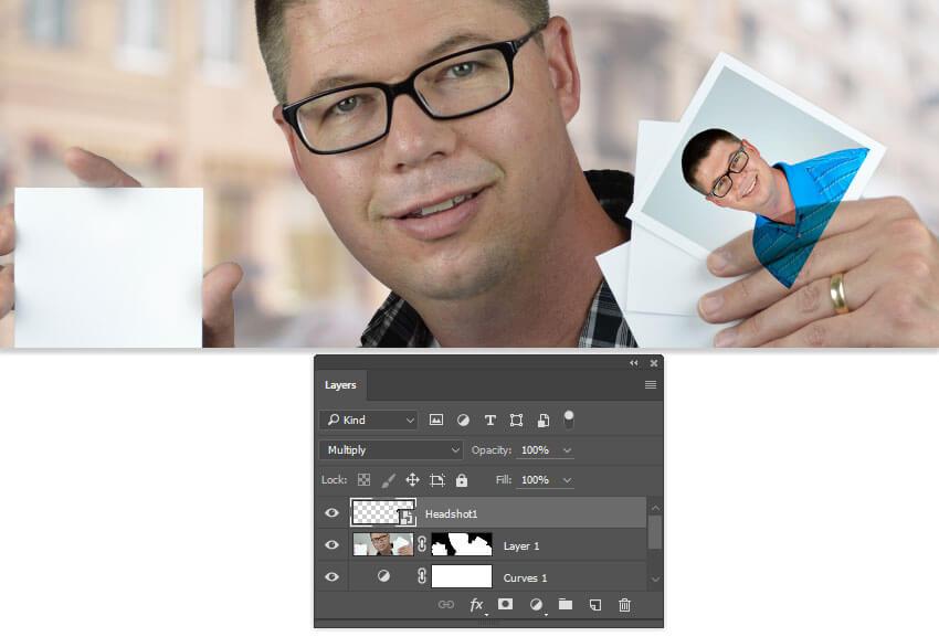 Ajouter une photo de profil à l'une des cartes
