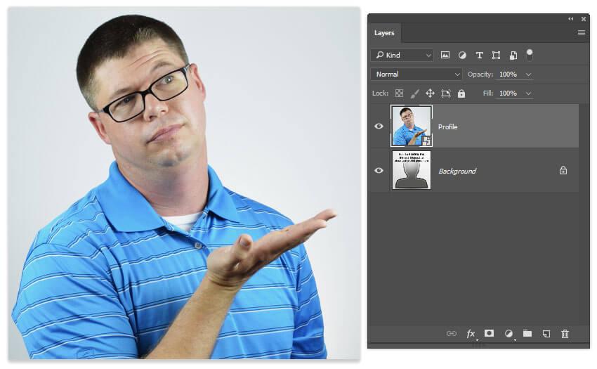 Placez dans une bonne image de profil