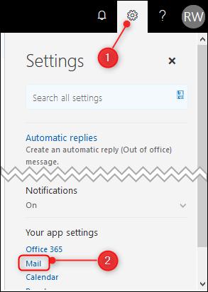 Les paramètres Outlook classiques