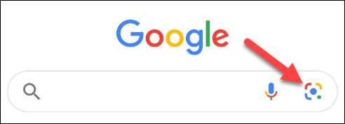appuyez sur l'icône de l'objectif dans l'application Google