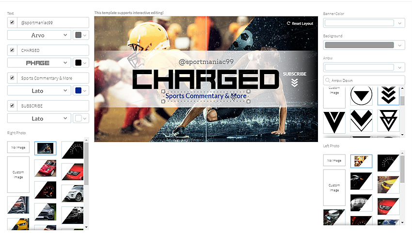 édition interactive de bannière