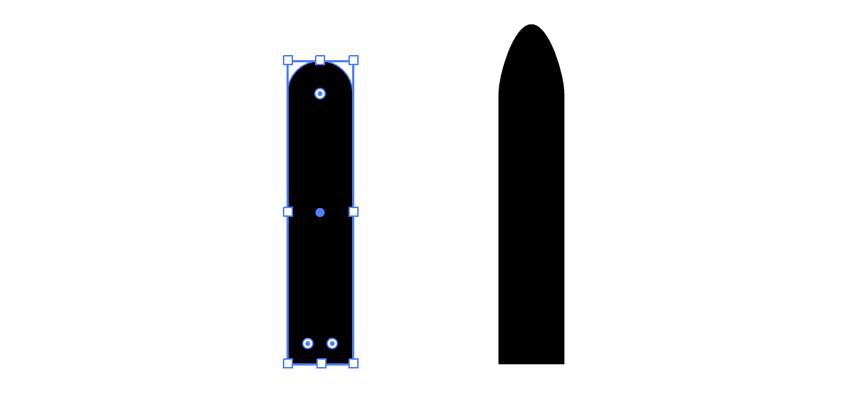Forme principale de l'icône d'avion