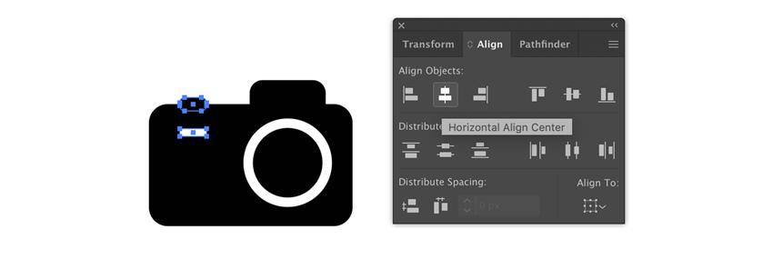 Ajout de détails à une icône de caméra