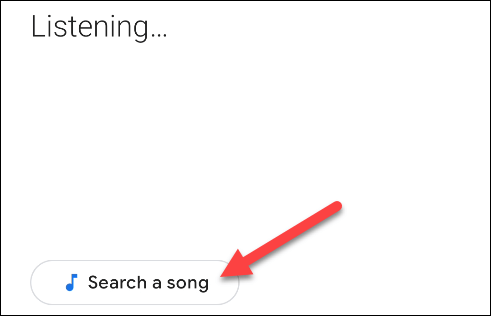 appuyez sur le bouton Rechercher une chanson
