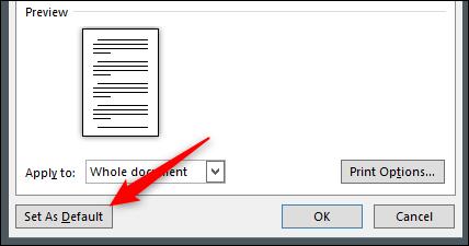 """Cliquez sur """"Définir par défaut""""."""