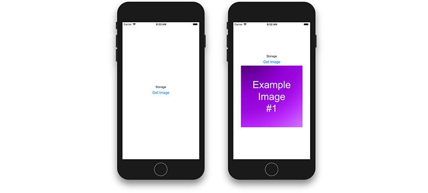 Captures d'écran de l'application montrant la fonction Obtenir une image