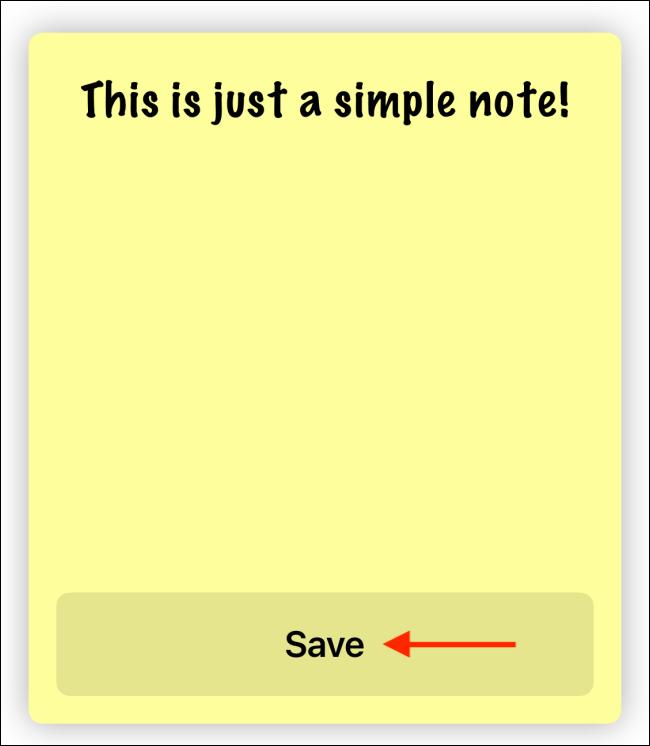 Entrez le texte et appuyez sur Enregistrer