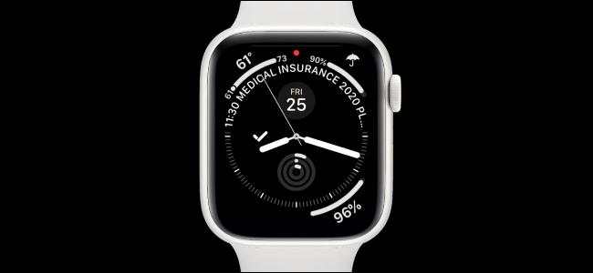 Apple Watch avec cadran d'infographie