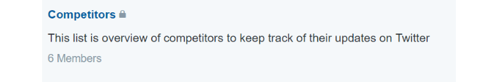 Surveillance des concurrents sur Twitter