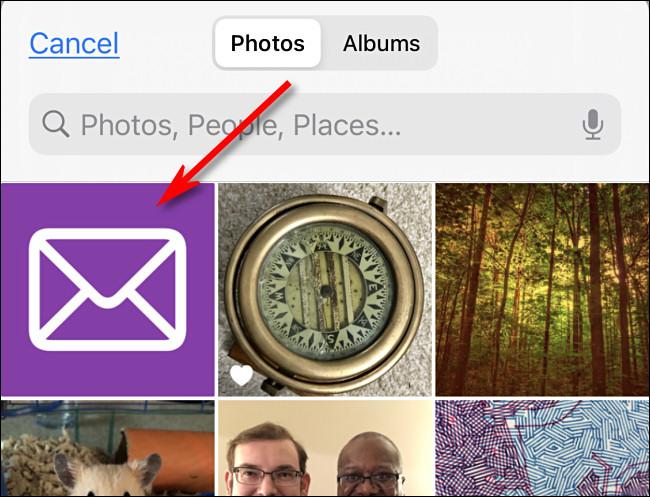 Tippen Sie auf das Bild, das Sie als benutzerdefiniertes Symbol in iPhone-Fotos verwenden möchten.