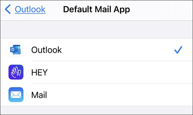 Tippen Sie in den Standardeinstellungen für Messaging-Apps auf dem iPhone auf die Messaging-App, die Sie verwenden möchten.