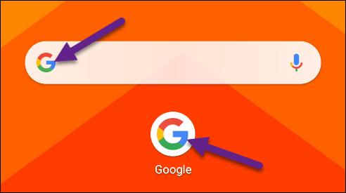 Tippen Sie auf das Google-Logo.