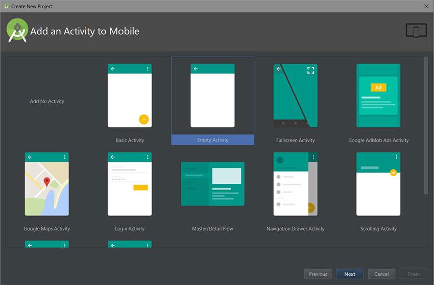 Android Studio ajouter une boîte de dialogue d'activité