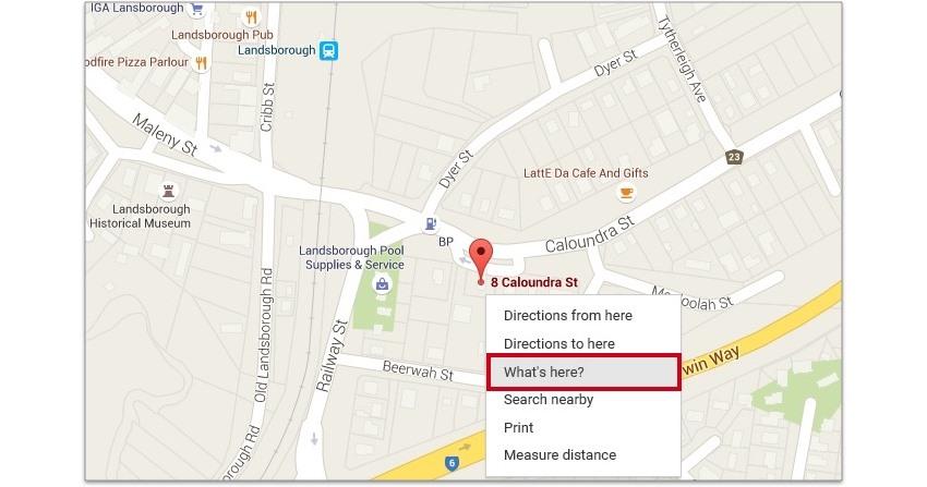 Obtenir les coordonnées cartographiques à partir de Google Maps
