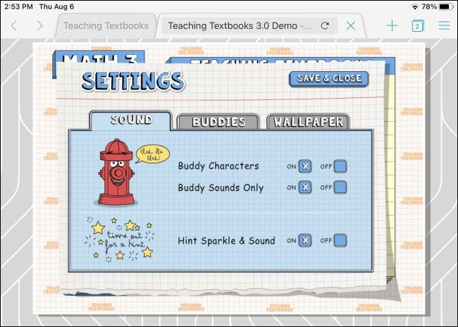 Une application Adobe Flash exécutée via Puffin sur un iPad