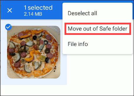 Google-Dateien kommen aus einem sicheren Ordner