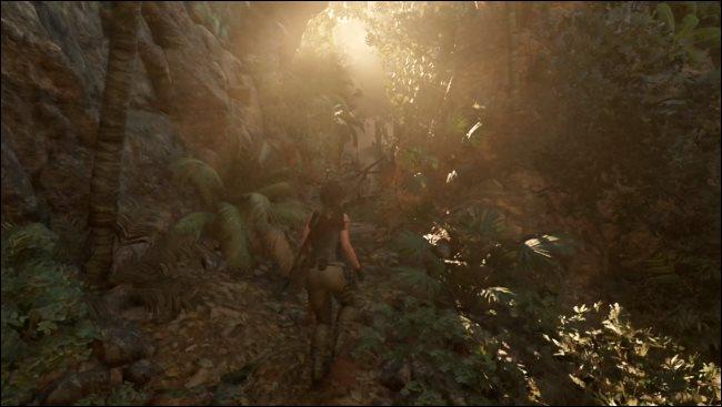 Ein Tomb Raider-Spiel, das auf einem Mac durch Rosetta 2 läuft.