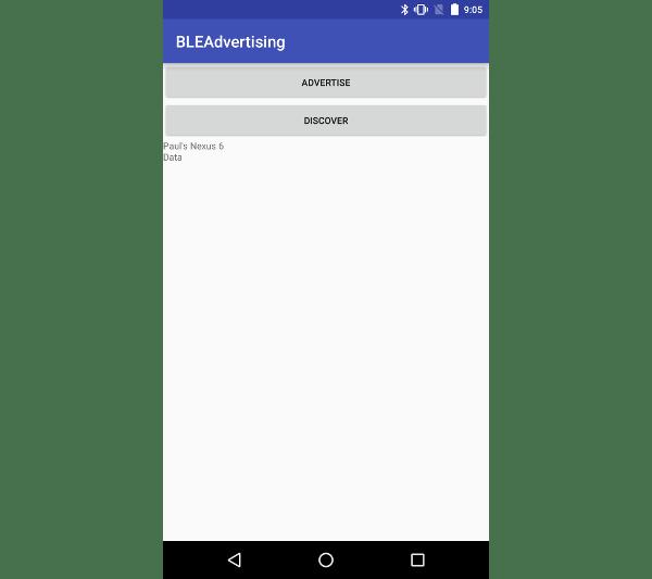 Le Nexus 5X découvre des paquets publicitaires Bluetooth LE à partir d'un Nexus 6