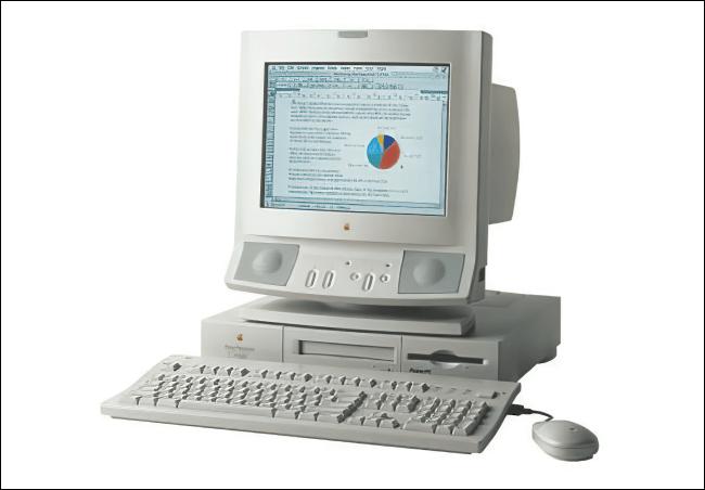 Un Apple Power Macintosh 6100.