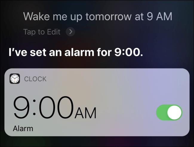 Définir une alarme sur iPhone à l'aide de Siri