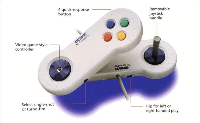 Caractéristiques du GamePad Gravis PC.