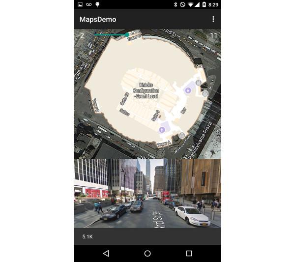 Vue sur la rue sur Madison Square Garden
