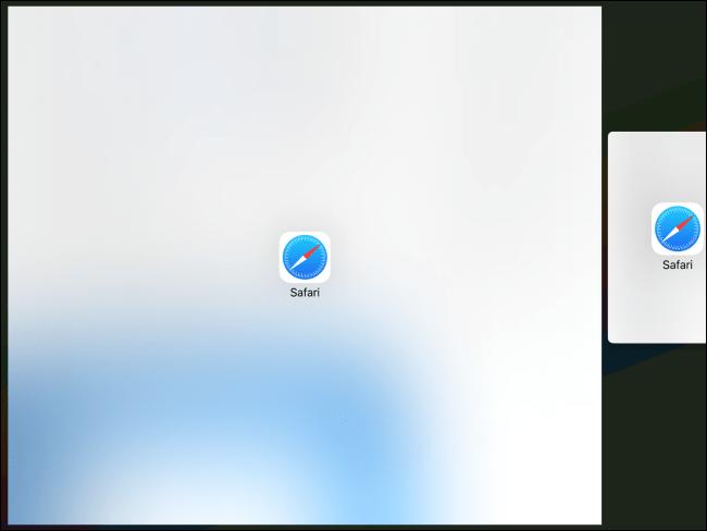 Arrastre un enlace a una nueva ventana de Vista dividida en iPad.