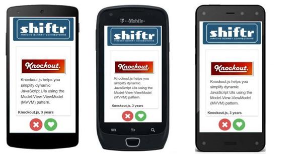 Shiftr App auf Android-Handys