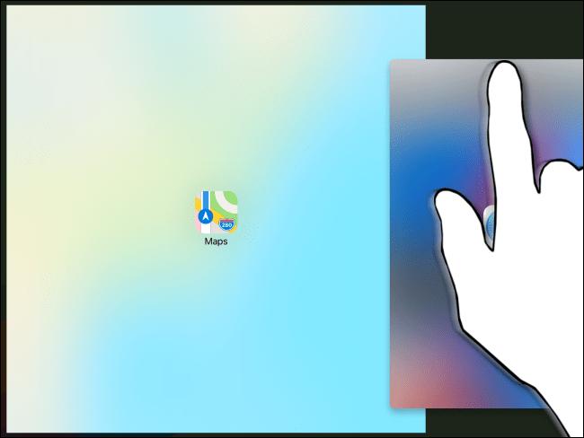 Transition du diaporama à la vue fractionnée sur iPad