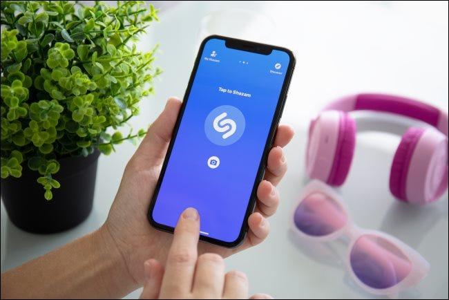 Shazam auf einem iPhone X.
