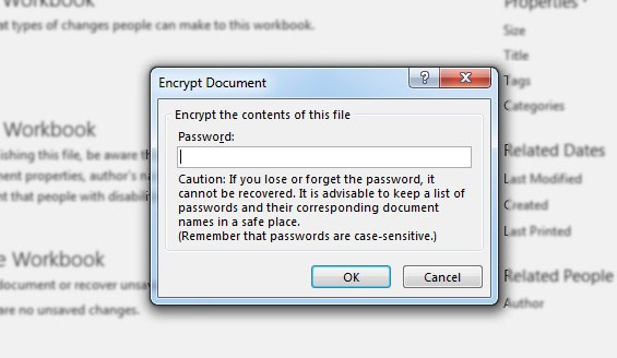 Crypter le document