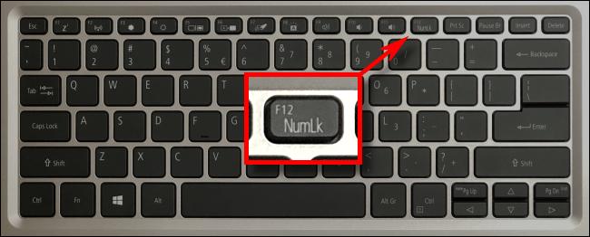 Un esempio di chiave di blocco digitale del laptop