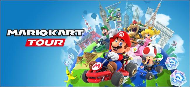 """Les personnages de Nintendo """"Visite de Mario Kart"""" Jeu."""