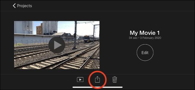 Appuyez sur le bouton Partager pour exporter votre vidéo.
