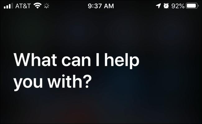 Lancement de Siri