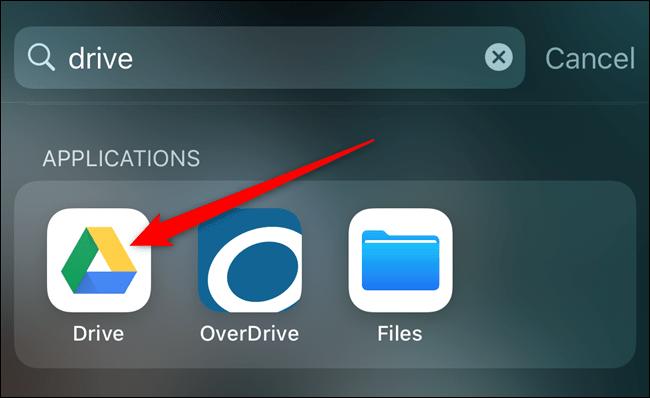 Öffnen Sie die Google Drive-App