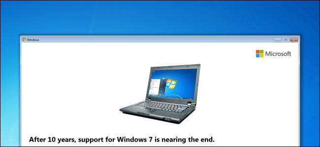 Windows 7 admite la fecha de finalización del mensaje molesto del escritorio.